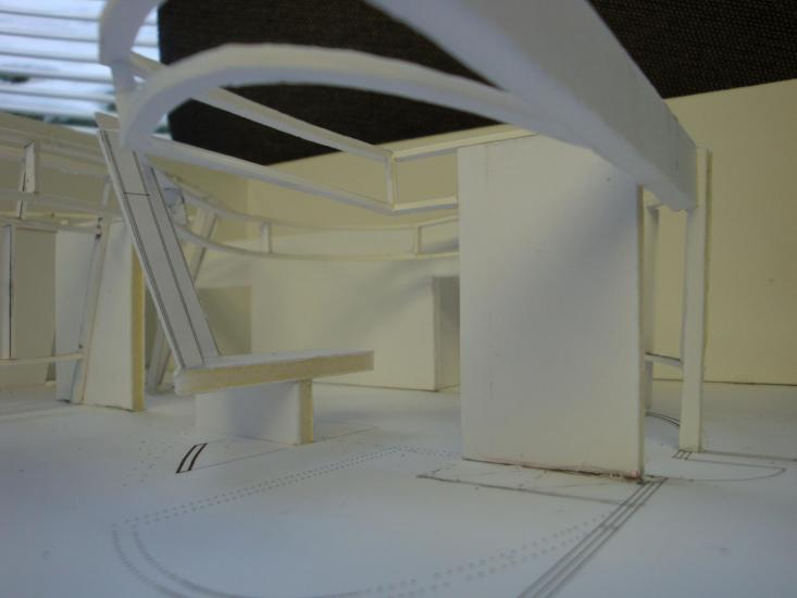 model showing entry lobby