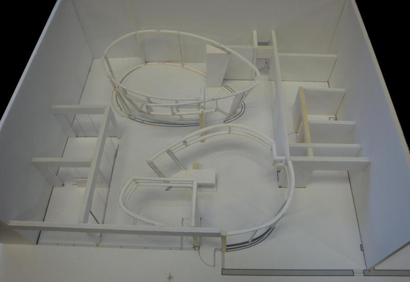 model showing overall view of office